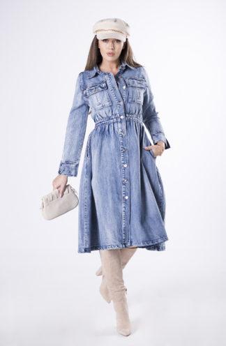 Rozkloszowana sukienka z jeansu
