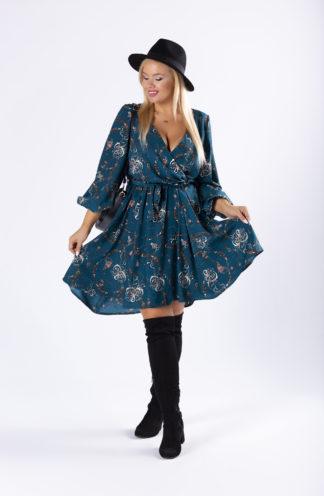Kopertowa sukienka we wzory PLUS SIZE
