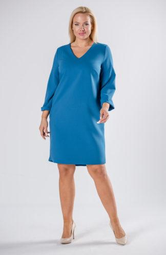 Trapezowa sukienka z kieszeniami