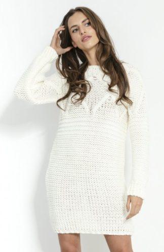 Dopasowana sukienka swetrowa