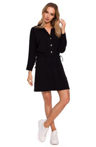 Sukienka z koszulową górą czarna