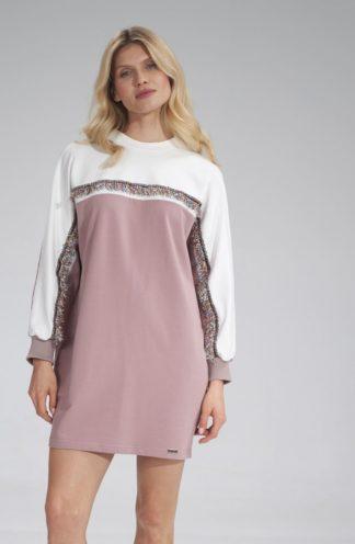 Sukienka typu bluza różowa