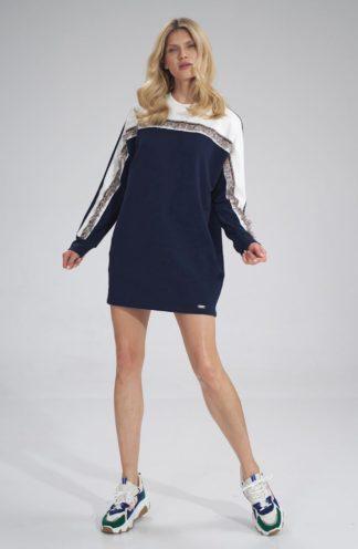 Sukienka typu bluza granatowa