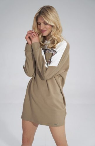 Sukienka typu bluza beżowa