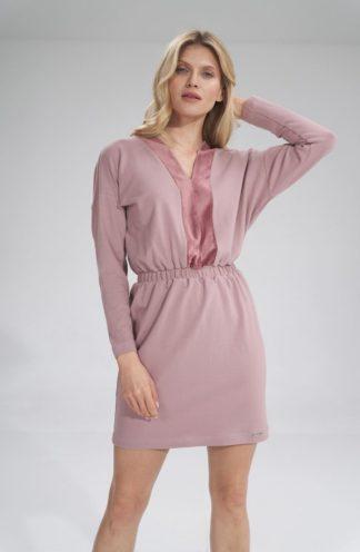 Prosta mini sukienka różowa