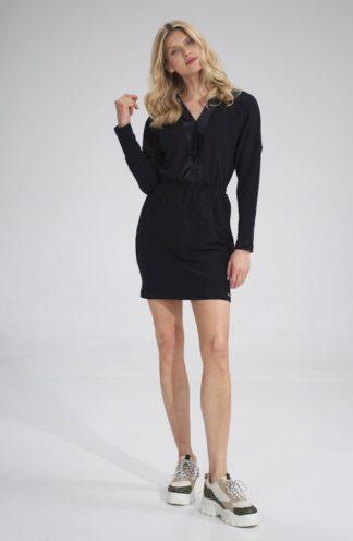 Prosta mini sukienka czarna