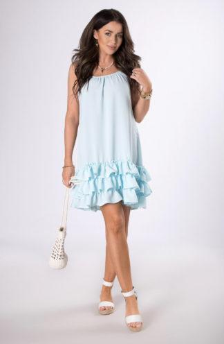 Letnia sukienka z falbanami