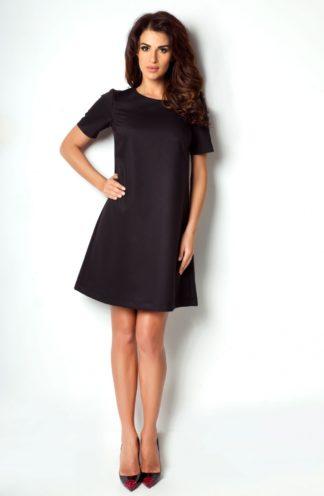 Klasyczna trapezowa sukienka czarna
