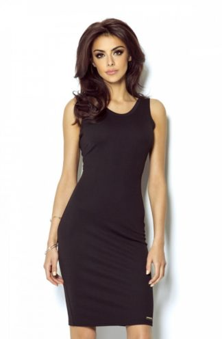 Mini sukienka z dekoltem na plecach czarna