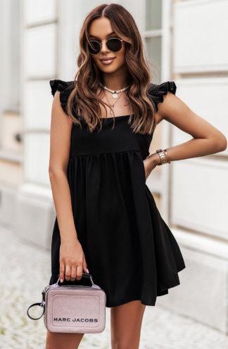 Luźna sukienka mini czarna