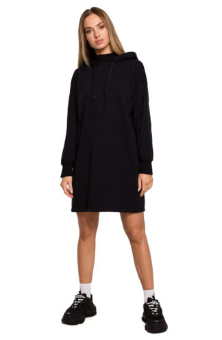 Długa bluza dresowa czarna t