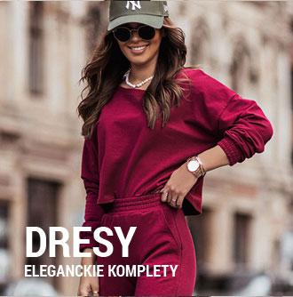 Dresy damskie eleganckie jesień 2021 na 13sukienek.pl